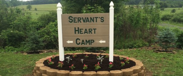 Servant's Heart Camp Sign