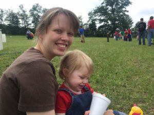 Liz and Chloe at Family Camp